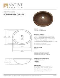 Rolled Baby Classic Specifications