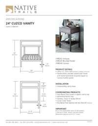 Cuzco Vanity Specifications
