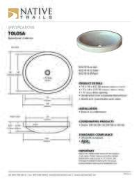 Tolosa Specifications