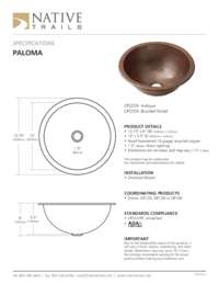Paloma Specifications