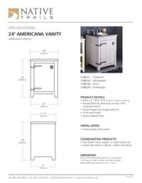 Americana Vanity Specifications