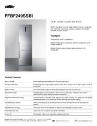 Brochure FFBF249SSBI