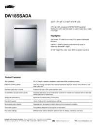 Brochure DW18SSADA