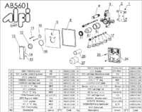 AB5601 parts