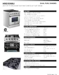 HRD3088U Specifications