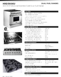 HRD3606U Specifications