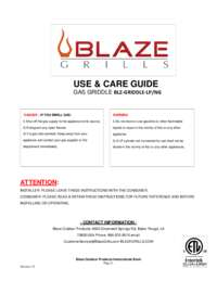 Use and Care with Specifications
