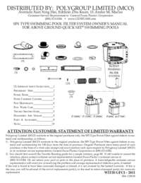 Filter System Manual