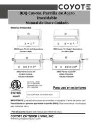 Coyote Grill Manual Spanish