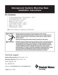 Mounting Base Instructions