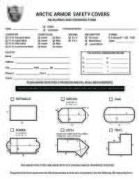 Custom Cover Measuring Form