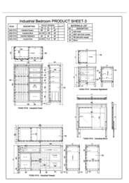 Industrial Bedroom Specification Sheet