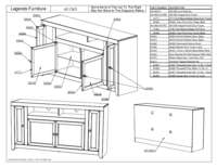 65 in TV Console Parts List