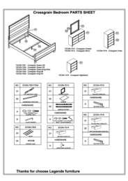 Crossgrain Collection Parts List