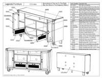 66 in TV Console Parts List