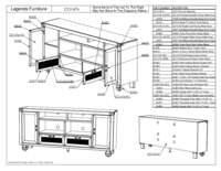 76 in TV Console Parts List
