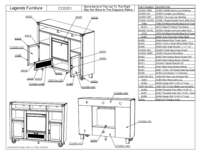 Fireplace Console Parts List