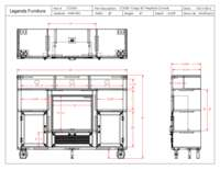 Fireplace Console Specification Sheet