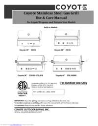 Use and Care Manual with Specifications
