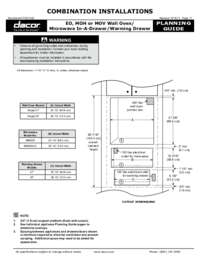 Planning Guide for Microwave Drawer and Warming Drawer Combination