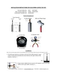 Cold Brew Coffee Tap Kit Instructions