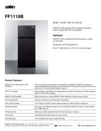 Brochure FF1119B Refrigerator