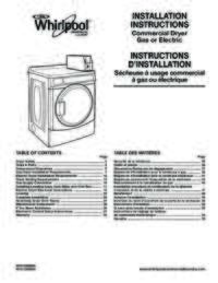 Installation Instructions with Specifications