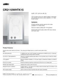 Brochure CR2110WHTK15