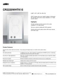 Brochure CR2220WHTK15