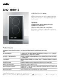 Brochure CR2110TK15