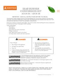 Sear Burner Conversion Kit Guide