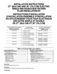 Flush Installation Instructions