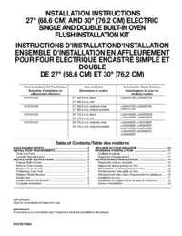 Flush Installation Kit
