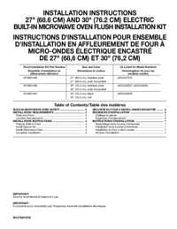 Flush Installation Sheet