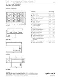 JGCP436WP Dimensions Guide