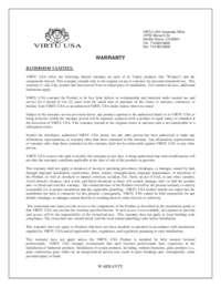 Virtu USA Warranty 2 Year