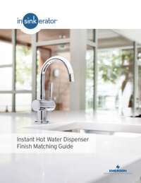 Instant Hot Water Dispenser Finish Matching Guide