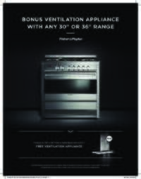 Fisher Paykel 30 inch or 36 inch range = Free Ventilation Hood (Up To $1299 Value)