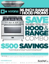 Verona - Range and Hood Promo $500 Savings