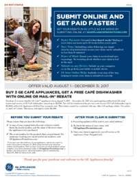 GE Cafe - Buy 3 Qualifying Appliances and get a FREE Dishwasher (valued up to $1000)