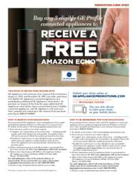 GE - Receive a FREE Amazon Echo