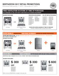 Bertazzoni FREE Ventilation Plus Additional Savings (up to $1999 value)