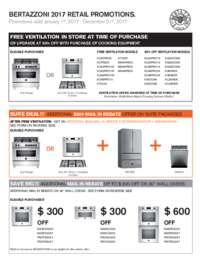 Bertazzoni FREE Ventilation Plus Additional Savings (up to $1999 value)