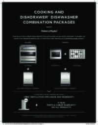 Fisher Paykel Wall oven or cooktop + Dishdrawer = Free Ventilation System + 3 Year Warranty on your package