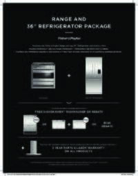 Fisher Paykel Range + 36 inch refrigerator = Free Dishdrawer (add Ventilation System = Free 3 Year Warranty on your package)
