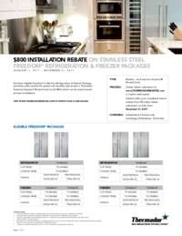 Thermador - $800 Rebate on Freedom Refrigeration and Freezer Packages
