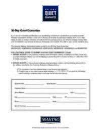 Maytag - 30-Day Quiet Guarantee