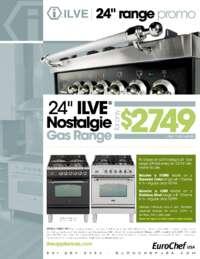 ILVE - 24 Inch Nostalgie Gas Range Promo (up to $1000 value)