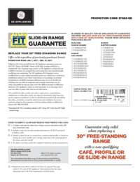 GE - Slide-In Range Fit Guarantee (up to $300 value)