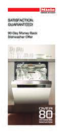 Miele - 90-Day Money Back Dishwasher Offer